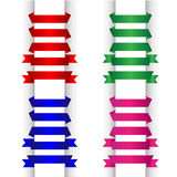 Ribbons Set. On white background Royalty Free Stock Images