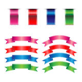 Ribbons Set. On white background Stock Photography