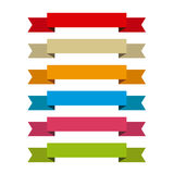 Ribbons set for write inside, differents colors Royalty Free Stock Photography