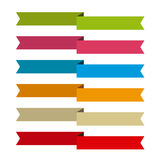 Ribbons set for write inside, differents colors Stock Images