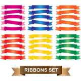 Ribbons Set Royalty Free Stock Photography