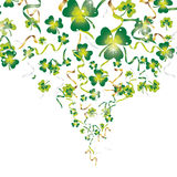Ribbons shamrock explode Royalty Free Stock Photography