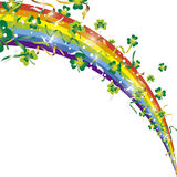 Ribbons shamrock rainbow Royalty Free Stock Image