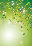 Ribbons and shamrocks Stock Image