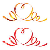 Ribbons in shape of heart Royalty Free Stock Images