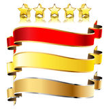 Ribbons and stars Royalty Free Stock Photo