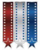 Ribbons With Stars Royalty Free Stock Photos