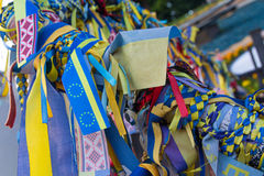 Ribbons with the symbols of Ukraine Royalty Free Stock Images