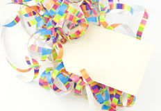Ribbons With Tag Royalty Free Stock Image
