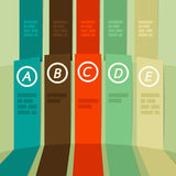 5 ribbons - tape infographic Royalty Free Stock Image
