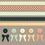 Ribbons and Trim Vector Illustration Royalty Free Stock Photo