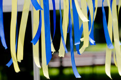 Ribbons Ukraine Stock Photo