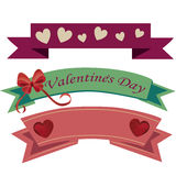 Ribbons and valentines day Royalty Free Stock Photography
