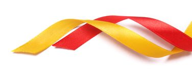 Ribbons on white background Stock Photography