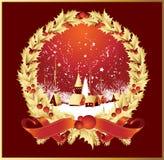 Ribbonsastad van de kroon in rood Stock Afbeeldingen