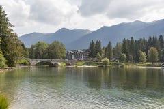 Ribcev Laz town and Bohinj lake landscape, Slovenia Royalty Free Stock Photography