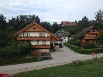 Ribcev Laz town. Located on the Bohinj lake in Slovenia Stock Photo