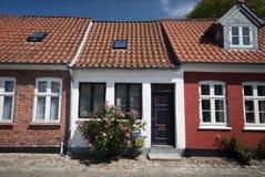 Ribe的露台的房子 免版税库存图片
