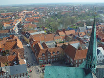 Ribe, from above royalty free stock image