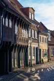 Ribe, Dänemark - 30. April 2017: Alte Stadt von Ribe stockfotos