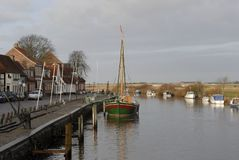 Ribe harbour Stock Image