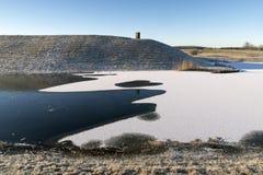 Ribe Slotsbanke al día de invierno Foto de archivo