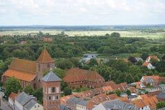 Ribe-Stadt in Dänemark stockbilder