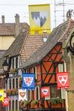 Ribeauville (Alsácia) - casas Fotos de Stock Royalty Free