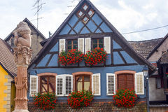Ribeauville (Alsace) - House Royalty Free Stock Image
