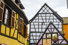Ribeauville (Alsace) - Houses Royalty Free Stock Images