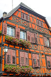 Ribeauville (Alsace) - Orange House Royalty Free Stock Images