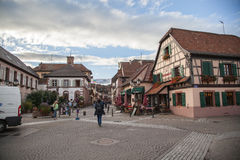 Ribeauville French village Stock Image
