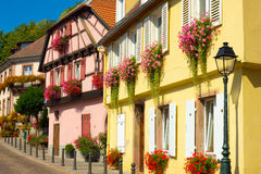Ribeauville houses Royalty Free Stock Photos