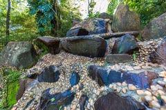 Ribeirão Preto市动物园的法比奥Barreto日本庭院 圣地 免版税库存图片