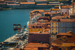Ribeira和杜罗河河在波尔图,葡萄牙 旅行 库存照片