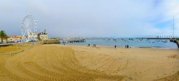 Ribeira海滩,在卡斯卡伊斯 库存照片