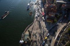 Ribeira顶视图杜罗河河的 免版税库存照片