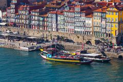 Ribeira,波尔图,葡萄牙 免版税库存图片