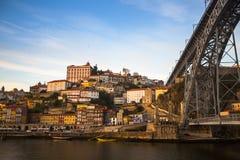 Ribeira και Douro ποταμός, Πόρτο Στοκ φωτογραφία με δικαίωμα ελεύθερης χρήσης