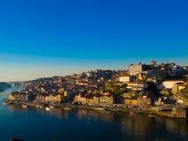 Ribeira в обширном свете дня, Порту, Португалии Стоковое Изображение