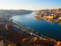 Ribeira в обширном свете дня, Порту, Португалии Стоковые Фотографии RF