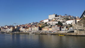 Ribeira в обширном свете дня, Порту, Португалии Стоковые Изображения