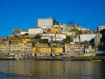 Ribeira в обширном свете дня, Порту, Португалии Стоковые Изображения RF