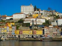 Ribeira в обширном свете дня, Порту, Португалии Стоковое Изображение RF