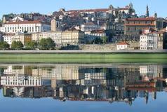 Ribeira. View of Oporto's Ribeira with a water mirror Stock Photos