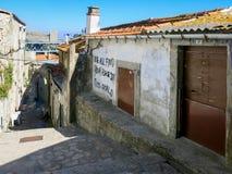 街道画在Ribeira区,波尔图 库存图片