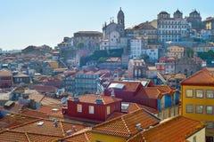 Ribeira architectura. Porto, Portugal Royalty Free Stock Photos