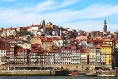 Ribeira-Bezirk im Herzen von Porto, Portugal Lizenzfreies Stockbild
