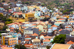 Ribeira Brava i Sao Nicolau i Kap Verde arkivfoton