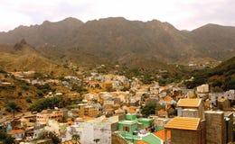 Ribeira Brava i Sao Nicolau i Kap Verde fotografering för bildbyråer
